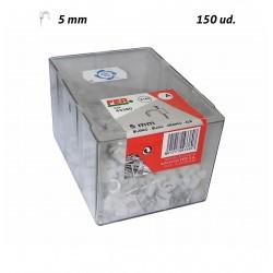 Grapa Plastico Blanco 5 mm FER