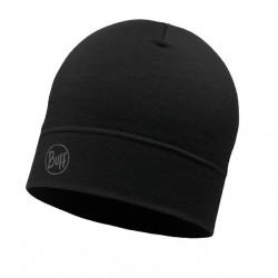 Merino Wool Hat Solid Black...