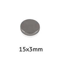 Imán Neodimio Disco 15x3mm...
