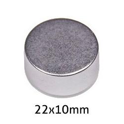 Imán Neodimio Disco 22x10mm...