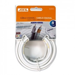 Cable Coaxial Blanco 5m...