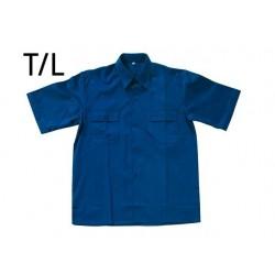 Camisa Azul Manga Corta...